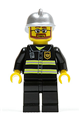 Fire - Reflective Stripes, Black Legs, Silver Fire Helmet, Beard and Glasses - cty0087