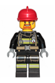 Fire - Reflective Stripes with Utility Belt, Red Fire Helmet, Goatee - cty0965