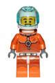 Astronaut - Male, Orange Spacesuit with Dark Bluish Gray Lines, Trans Light Blue Large Visor, Stubble - cty1059