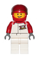 Race Car Driver - Male, White and Red Jumpsuit with 'XTREME' Logo, White Legs, Red Helmet - cty1160