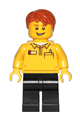 Lego Store Employee, Black Legs, Dark Orange Tousled Hair, Lopsided Grin - cty1239