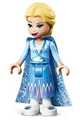 Elsa - Glitter Cape with Two Tails, Medium Blue Skirt with White Shoes - dp069