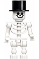 Skeleton with Standard Skull, Black Top Hat - gen147