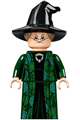 Professor Minerva McGonagall, Dark Green Robe and Cape, Hat with Hair - hp274