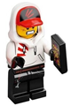 Jack Davids with white hoodie with cap and hood - hs050