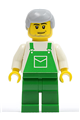 Overalls Green with Pocket, Green Legs, Light Bluish Gray Male Hair - ovr032
