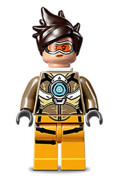 LEGO Overwatch Tracer Minifigure from 75970 Tracer vs Widowmaker ow001 NEW