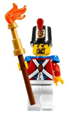 Imperial Soldier II with Shako Hat Printed, Black Goatee - pi092