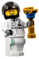 Mercedes Petronas Race Car Driver, Black Helmet - sc042