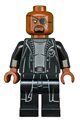 Nick Fury - Gray Sweater and Black Trench Coat - sh585