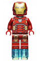 Iron Man with Silver Hexagon on Chest and 1 x 1 Round Bricks - sh649