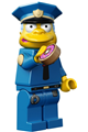 Chief Wiggum with Doughnut Frosting on Face and Shirt - sim023