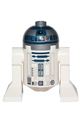R2-D2 with Flat Silver Head, Dark Blue Printing, Red Dots, Small Receptor - sw0527