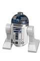 R2-D2 with Flat Silver Head, Dark Blue Printing, Lavender Dots, Small Receptor - sw0527a