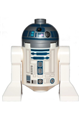 R2-D2 with Flat Silver Head, Dark Blue Printing, Dark Pink Dots, Large Receptor - sw1085