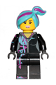 Lucy Wyldstyle with Magenta Lined Hoodie, Medium Azure and Magenta Hair, Smile / Cheerful - tlm201