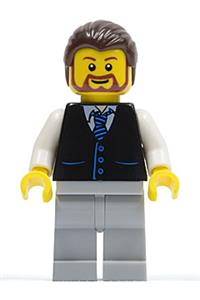 Lego New Light Bluish Gray Minifigure Beard Long Tied Piece