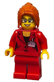 Reporter, Female, Dark Orange Hair with Sidebangs, Glasses, Red Blazer with Press Pass (Red Ludo) - twn354