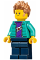 Male with Purple Shirt, Dark Turquoise Jacket, Dark Blue Legs and Medium Nougat Hair - twn390