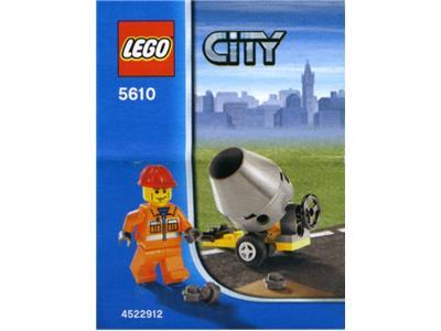*BRAND NEW* LEGO City Construction Builder CEMENT MIXER 5610