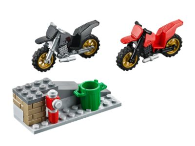 Lego City Town 60042 HIGH SPEED POLICE CHASE Robber Motorbike Car Crook NIB