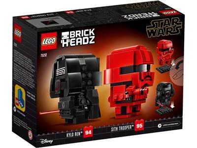 New//Sealed! Lego Star Wars Brickheadz 75232 Kylo Ren /& Sith Trooper Last Jedi