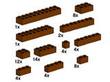 10147 LEGO Assorted Brown Bricks