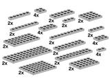 10148 LEGO Assorted Light Grey Plates