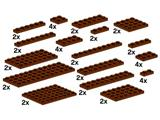 10150 LEGO Assorted Brown Plates
