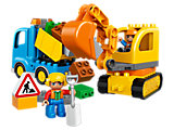 10812 LEGO Duplo Construction Truck & Tracked Excavator