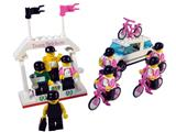 1199 LEGO Telekom Race Cyclists and Winners' Podium