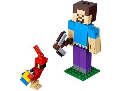 21148 LEGO Minecraft Steve BigFig with Parrot