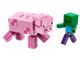 21157 BigFig Pig with Baby Zombie