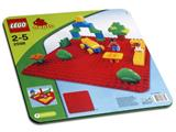 2598 LEGO Duplo Large Red Building Plate