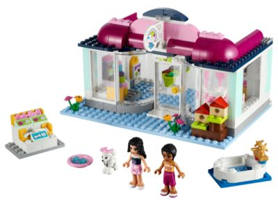 Lego FRIENDS Set 41007 HEARTLAKE PET SALON Emma Joanna Dog RETIRED Sealed! NEW