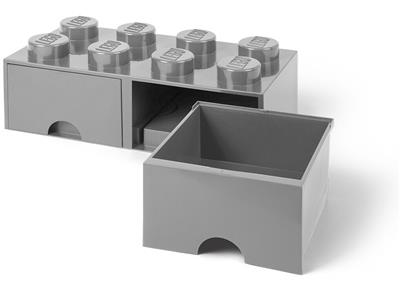 5005720 LEGO 8 Stud Medium Stone Gray Storage Brick Drawer