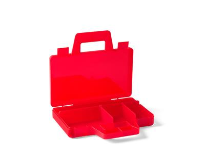5005769 LEGO Transparent Red Sorting Case To Go