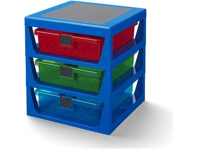 5006179 Transparent Blue LEGO Rack System