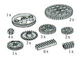 5266 LEGO Technic Gear Racks, Gear Wheels and Pulley Wheels