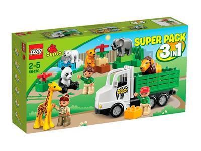 LEGO Duplo 66430 Super Value Pack Zoo 3in1 6172 6173 4962 Sets