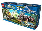66474 Legends of Chima LEGO Chima Super Pack 2-in-1