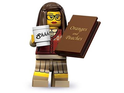 Sealed Lego Series 10 Librarian Book Worm Nerd Girl Glasses Minifigure Cup Mug