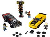 75893 LEGO Speed Champions 2018 Dodge Challenger SRT Demon and 1970 Dodge Charger R/T