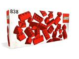 838 LEGO Red Roof Bricks Parts Pack, 45°