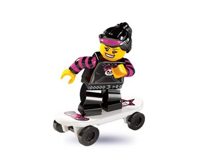 Genuine Lego 8827 Minifigure Series 6 no.12 Skater Girl