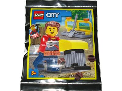 952018 LEGO City Harl Hubbs with Tamping Rammer